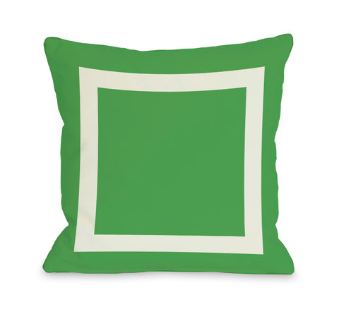 Square - Green Throw Pillow by OBC 18 X 18