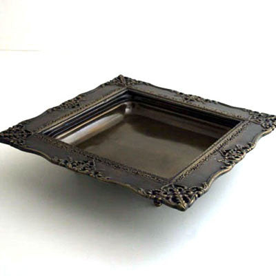 Each.  Bronze Square Tray