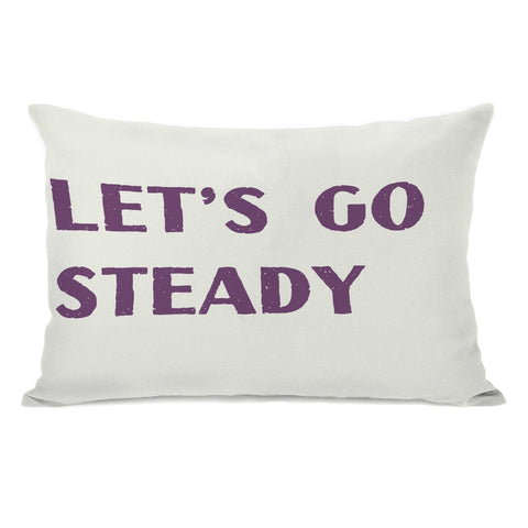 Let's Go Steady Lumbar Pillow by OBC 14 X 20