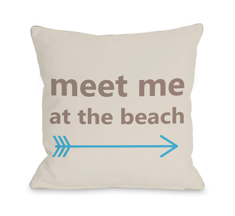 Meet Me at the Beach Lumbar Pillow by OBC 14 X 20