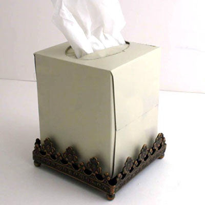Each.  Bronze Tissue Box Holder