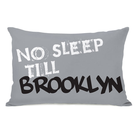 No Sleep Till Brooklyn Lumbar Pillow by OBC 14 X 20