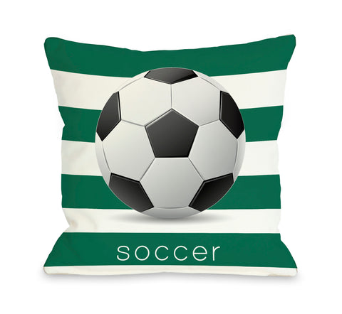 Soccer Throw Pillow by OBC 18 X 18