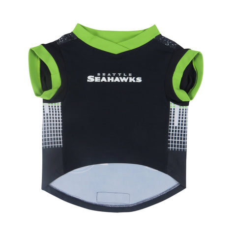 Littlearth NFL Seattle Seahawks Pet Performance T-shirt, Small