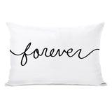 Forever Mix & Match Reversible - Black White Lumbar Pillow by OBC 14 X 20