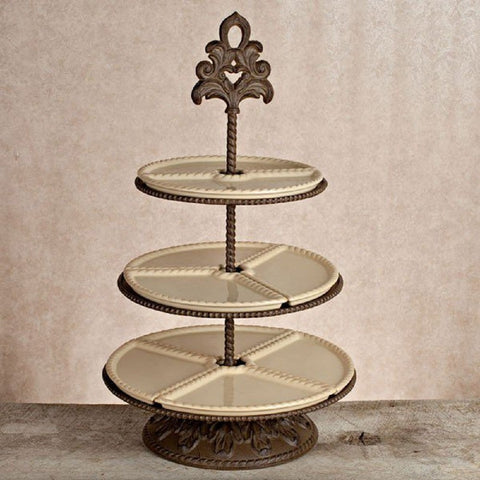 3-Tiered Server and Metal Base Tiered Stand