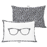 Leopard Nerd Glasses Lumbar Pillow by OBC 14 X 20