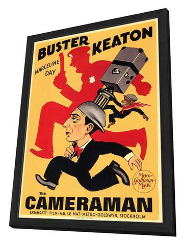 The Cameraman 11 x 17 Poster - Foreign - Style A - in Deluxe Wood Frame