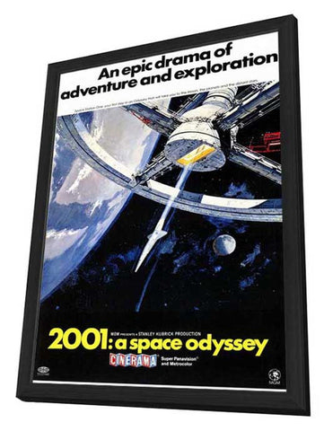 2001: A Space Odyssey 11 x 17 Movie Poster - Style C - in Deluxe Wood Frame