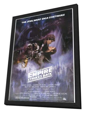 The Empire Strikes Back 11 x 17 Movie Poster - Style A - in Deluxe Wood Frame