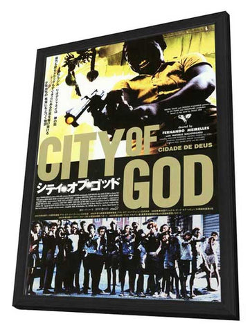 City of God 11 x 17 Poster - Foreign - Style A - in Deluxe Wood Frame