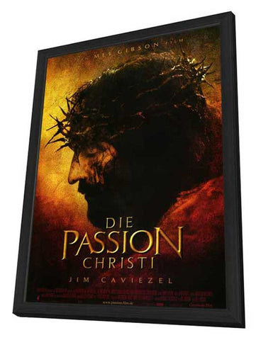 The Passion of the Christ 11 x 17 Movie Poster - German Style A - in Deluxe Wood Frame