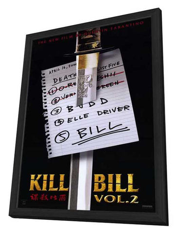 Kill Bill, Vol. 2 11 x 17 Movie Poster - Style A - in Deluxe Wood Frame