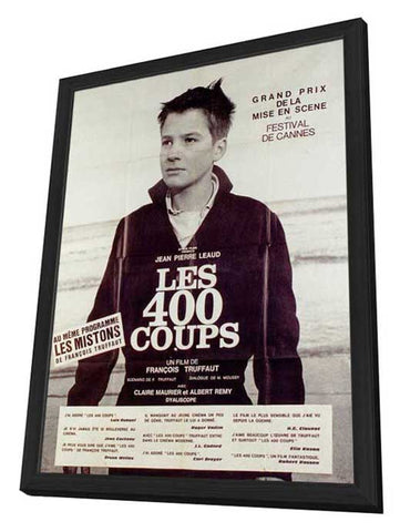 400 Blows 11 x 17 Poster - Foreign - Style C - in Deluxe Wood Frame