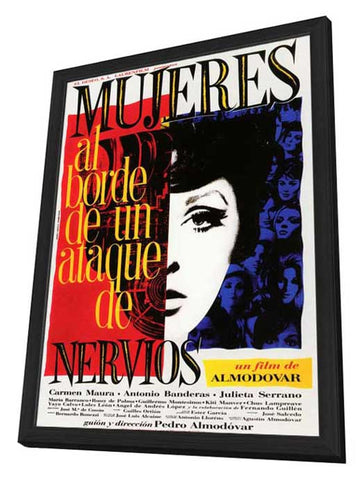 Women on the Verge of a Nervous Breakdown 11 x 17 Poster - Foreign - Style A - in Deluxe Wood Frame