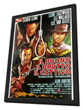 The Good, The Bad and The Ugly 11 x 17 Poster - Foreign - Style C - in Deluxe Wood Frame