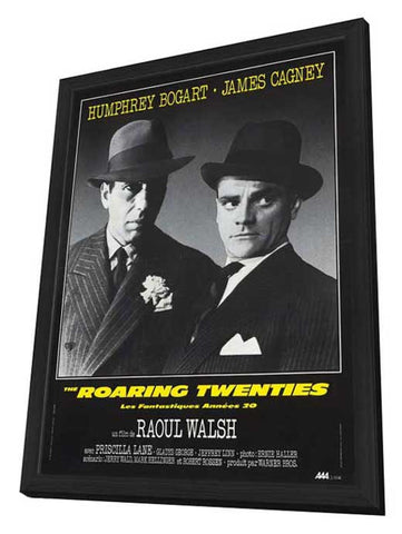 The Roaring Twenties 11 x 17 Movie Poster - French Style A - in Deluxe Wood Frame