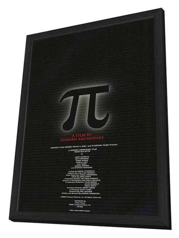 Pi 11 x 17 Movie Poster - Japanese Style A - in Deluxe Wood Frame