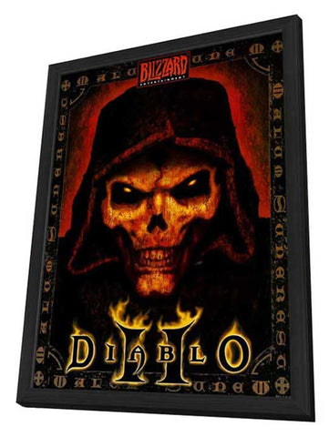 Diablo 2 11 x 17 Video Game Poster - Style A - in Deluxe Wood Frame