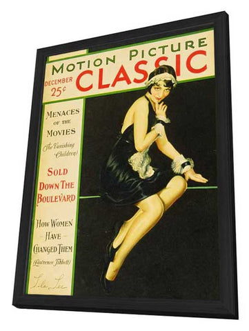 Lila Lee 11 x 17 Motion Picture Classic Magazine Cover 1920's Style A - in Deluxe Wood Frame