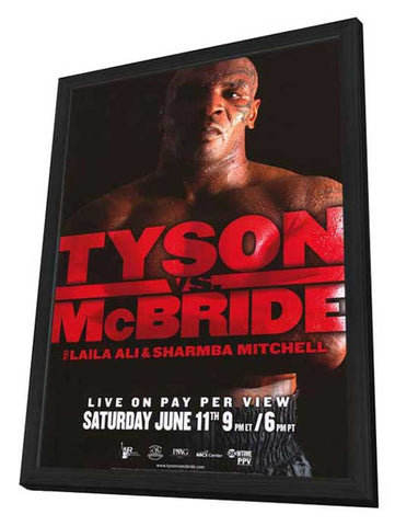 Mike Tyson vs Kevin McBride 11 x 17 Boxing Promo Poster - Style A - in Deluxe Wood Frame