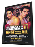 Erik Morales vs Marco Antonio Barrera 11 x 17 Boxing Promo Poster - Style A - in Deluxe Wood Frame