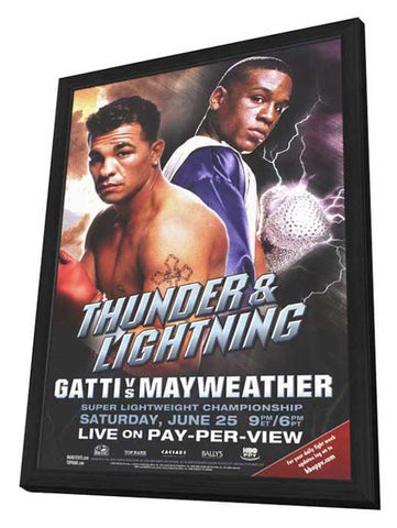 Arturo Gatti vs. Floyd Mayweather 11 x 17 Boxing Promo Poster - Style A - in Deluxe Wood Frame
