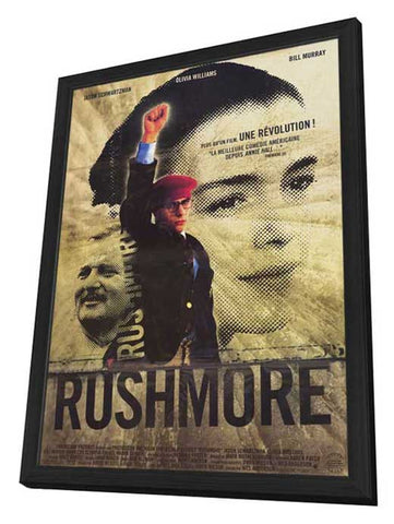 Rushmore 11 x 17 Movie Poster - French Style A - in Deluxe Wood Frame