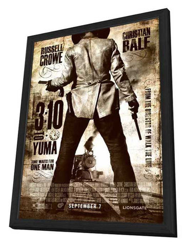3:10 to Yuma 11 x 17 Movie Poster - Style C - in Deluxe Wood Frame