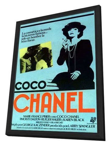 Chanel Solitaire 11 x 17 Movie Poster - Spanish Style B - in Deluxe Wood Frame