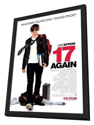 17 Again 11 x 17 Movie Poster - Style A - in Deluxe Wood Frame