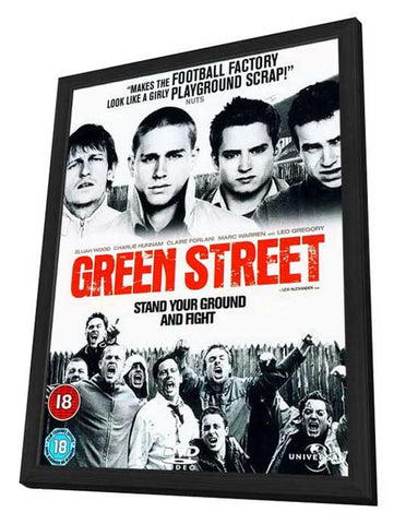 Green Street Hooligans 11 x 17 Movie Poster - UK Style A - in Deluxe Wood Frame