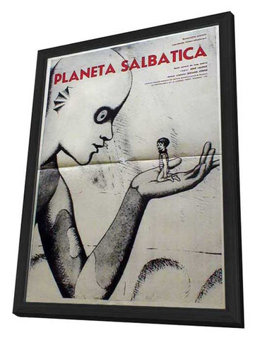 The Fantastic Planet 11 x 17 Movie Poster - Romanian Style A - in Deluxe Wood Frame