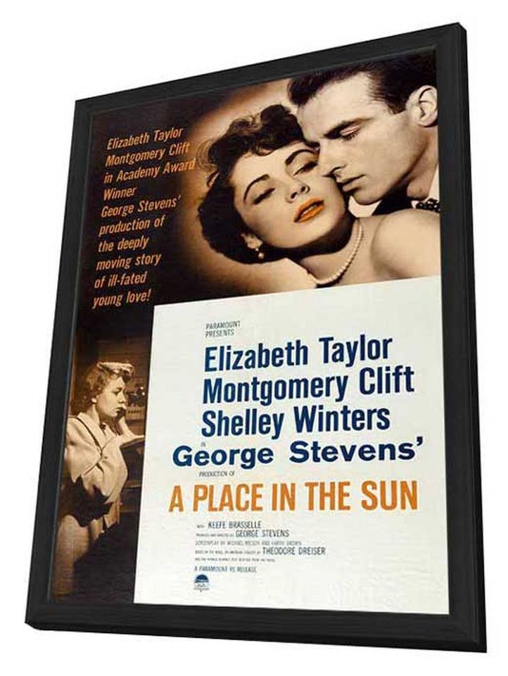 Elizabeth Taylor NEW A Place in the Sun Movie POSTER 27 x 40 Montgomery Clift