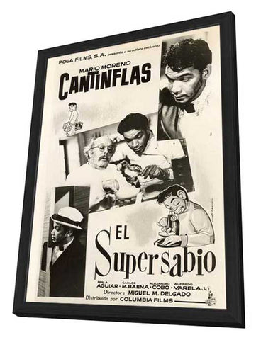 Supersabio, El 11 x 17 Movie Poster - Mexican Style A - in Deluxe Wood Frame