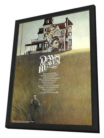 Days of Heaven 11 x 17 Movie Poster - UK Style A - in Deluxe Wood Frame