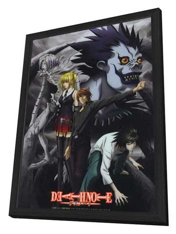 Death Note 11 x 17 Movie Poster - Japanese Style D - in Deluxe Wood Frame