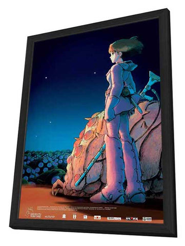 Nausicaä of the Valley of the Winds 11 x 17 Movie Poster - Russian Style A - in Deluxe Wood Frame