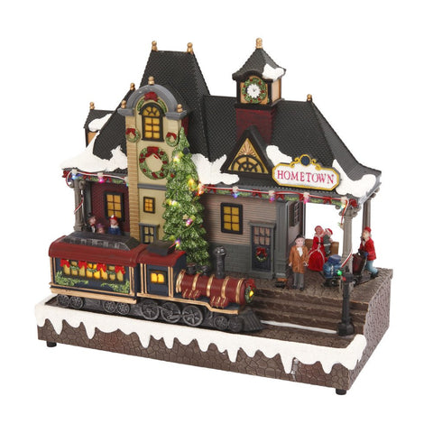 Gerson 12In B/O Lighted Musical Train