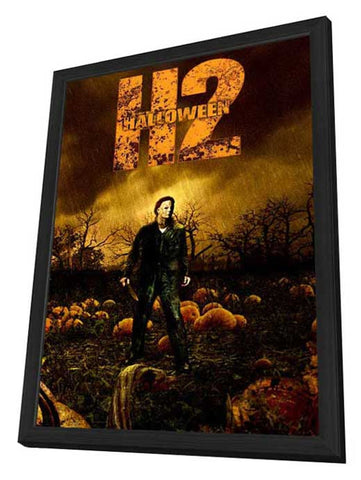 Halloween 2 11 x 17 Movie Poster - Style E - in Deluxe Wood Frame