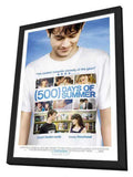 500 Days of Summer 11 x 17 Movie Poster -  Finnish Style A - in Deluxe Wood Frame