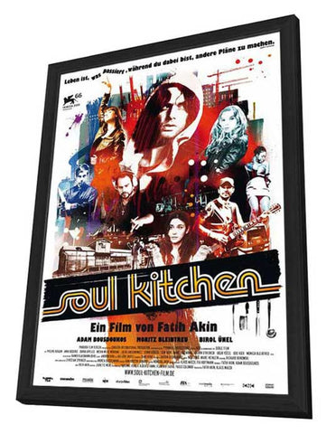 Soul Kitchen 11 x 17 Movie Poster - German Style A - in Deluxe Wood Frame
