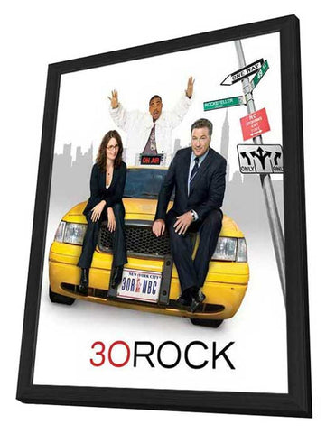 30 Rock 11 x 14 TV Poster - Style C - in Deluxe Wood Frame