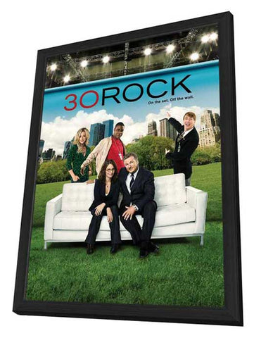30 Rock 11 x 17 TV Poster - Style F - in Deluxe Wood Frame