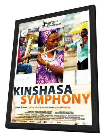 Kinshasa Symphony 11 x 17 Movie Poster - German Style A - in Deluxe Wood Frame