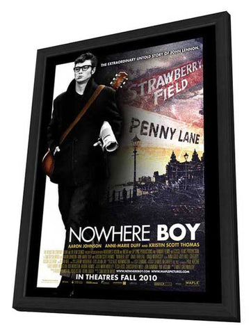 Nowhere Boy 11 x 17 Movie Poster - Canadian Style A - in Deluxe Wood Frame