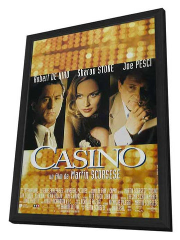Casino 11 x 17 Movie Poster - French Style A - in Deluxe Wood Frame