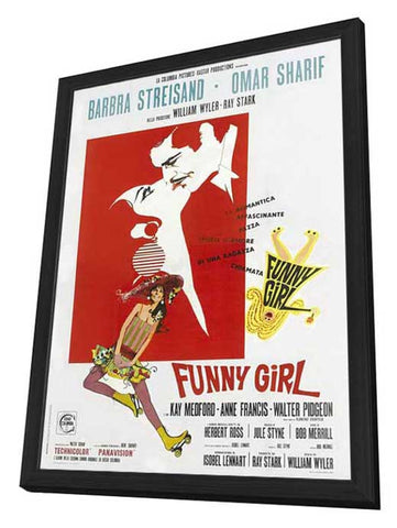 Funny Girl 11 x 17 Movie Poster - Italian Style A - in Deluxe Wood Frame