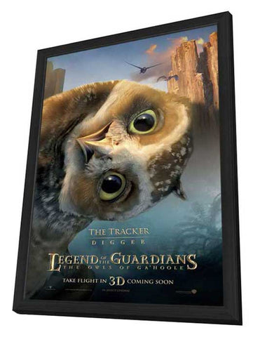 Legend of the Guardians: The Owls of Ga'Hoole 11 x 17 Movie Poster - UK Style H - in Deluxe Wood Frame