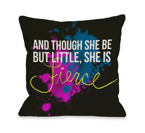 She is Fierce Throw Pillow by OBC 18 X 18